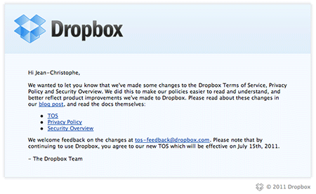 20110702 change termes dropbox