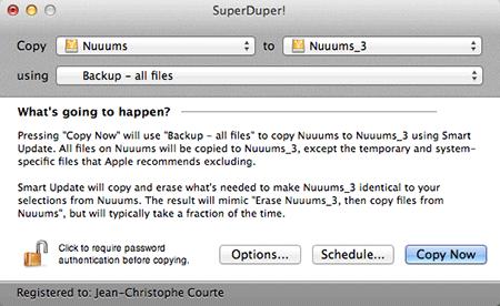 Déjà choisir le disque à cloner et celui de réception…