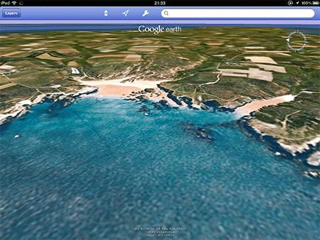 Cette application devient supportable — ici, la plage de Donnant…