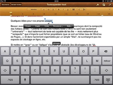 Pages affiche une interface adaptée en terme de rendu…