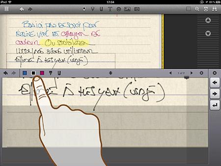 Pour mémoire, sur Noteshelf, tout est à portée de doigts…