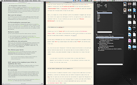 Ici, Marked + MultiMarkdown Composer
