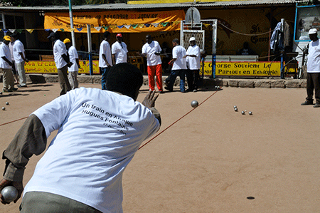 Une activité sportive arrivée en Ethiopie avec les bâtisseurs du train…