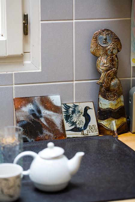 …qui a fini comme dautres pièces dans la cuisine, notre expo permanente